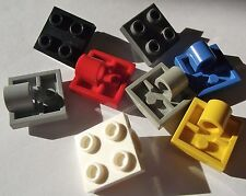 LEGO 2x2 modified plate with pin hole. packs of 14 Part 2444 Choose your colour!