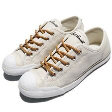 Converse Jack Purcell LP L/S Leather Ivory Brown Men Women Shoe Sneakers 158861C