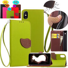 Luxury Retro Strap Leather Wallet Stand Cards Shockproof Case Cover For iPhone X