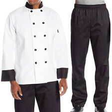Dickies Chef Bundle Pack, Contrast Classic Chef Coat & Elastic Waist Chef Pants