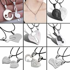 Couple Womens Men's Stainless Steel Pendant Necklace Valentine's Day Love Gift