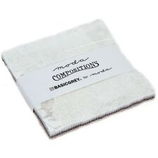 "Moda Compositions Charm Pack Basic Grey 42 5"" Precut Quilting Quilt Squares Kit"