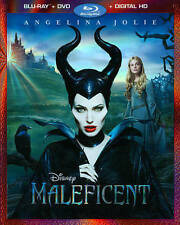 Maleficent (Blu-ray/DVD, 2014, 2-Disc Set) VG