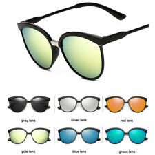 Womens Vintage Retro Fashion Designer Flat Lens Sunglasses Eye Glasses Eyewear