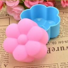 12pcs Soft Silicone Cake Muffin Chocolate Cupcake Bakeware Baking Cup Mold 5cm