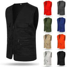 Mens Outdoor Fishing Vest Mens Leisure Photography Casual Director Waistcot Vest