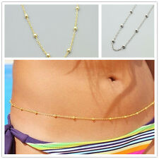 Sexy Silver Bead Belly Waist Lower Back Chain