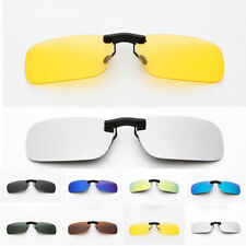 Polarized Sunglasses Clip On Driving Glasses Day Night Vision Lens Mens Womens