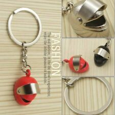 Creative Motorcycle Helmet Key Chain Ring Simulation Personal Safety Hat Metal