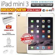 New Factory Unlocked APPLE iPad Mini 3rd Gen Gold Retina PC Tablet (WiFi+4G)