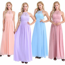 Women Formal Wedding Evening Ball Gown Bridesmaid Party Prom Elegant Long Dress
