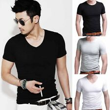 Cotton Short Sleeve Slim Men Comfortable T-shirt Fashion Trendy Popular Casual