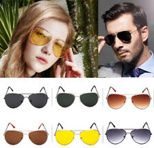 Unisex Retro Fashion Aviator Sunglasses Eyewear Shades Pilot Outdoor Mens Womens
