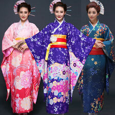 Hot Junoesque Vintage Yukata Japanese Haori Kimono With Obi Cosplay Women Dress