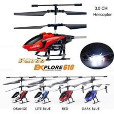 RC 3.5CH Mini Helicopter Radio Remote Control Aircraft Micro With LED Light Toy