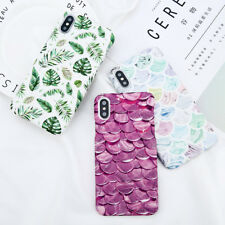 For iPhone X 8 6 7 Plus Ultra-thin Pattern Rigid Plastic Case Skin Cover Samsung