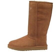 UGG Womens Classic Tall Crystal Star Boots Chestnut RRP £229.99