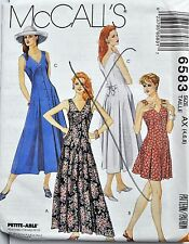 McCalls Sewing Pattern # 6583 Misses Jumper Romper and Dress Size 8-10-12