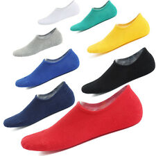 1-3Pairs Men's women's Invisible Trainer Liner Socks No Show Silicone Heel Grips
