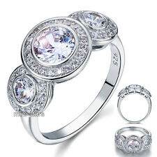 Art Deco 2.5 Ct Create Diamond 925 Sterling Silver Bridal Engagement Ring FR8089
