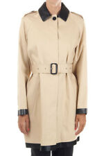 BURBERRY LONDON New Woman Beige Cotton Trench Coat Raincoat w/ Belt NWT Original