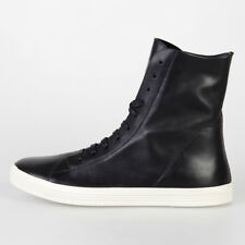 RICK OWENS New Man Black Leather MASTOSNEAKS Sneakers Shoes Made in Italy NWT