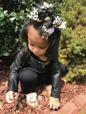 Leopard Triple Boutique Hair Bow for Girls Baby and Toddler Leopard Headband