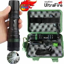Tactical ZOOM 50000LM T6 LED 18650 Military Flashlight Torch+18650+Charger+Case