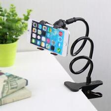 1x Lazy Mount Double V Clip Cell Phone Holder Clamp Flexible 360° Goose neck ZF