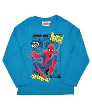 Spider man Boys Top Blue 4 - 12 years Brand New