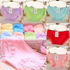Modal Cotton High Elasticity Candy Color Women Briefs Underwear Sexy Lace FZ