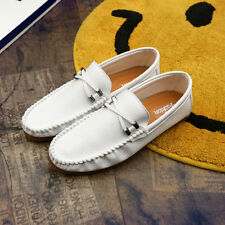 Leather casual Sneakers Fashion Comfy Lightweight Moccasins Driving Shoes314