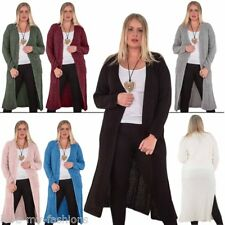 Womens Cardigan Ladies Knitted Warm Coat Casual Jersey Long Sleeve Outwear