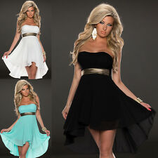 Ladies One Off Shoulder Chiffon Boho Dresses Evening Party Cocktail Dress NEW