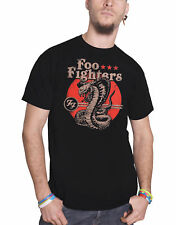Foo Fighters T Shirt Snake band logo grohl new Official Mens Black