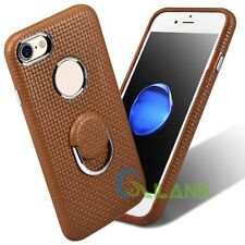 Genuine ICARER Real Cowhide Leather Back Case With Ring Holder For iPhone 7 【AU】