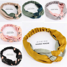 New Casual Wide SideTwo-color Stitching Hair Bands Headbands Hair Accessories