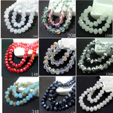 Wholesale Rondelle Faceted Crystal Glass Loose Spacer Beads 3mm/4mm/6mm/8mm/10mm