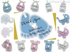 Pink/Blue Personalized Baby Shower Favor Tags/Thank You Tags/ Gift Tags