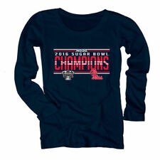 Ole Miss Rebels Women's Navy 2016 Sugar Bowl Champions Long Sleeve T-Shirt