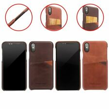 QIALINO Real Calf Leather Card Holder Protective Back Case Cover Fr iPhone X NEW