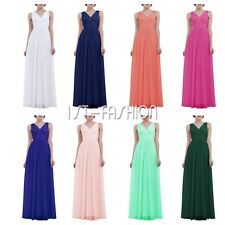 Womens Formal Wedding Evening Ball Gown Bridesmaid Party Prom Elegant Long Dress
