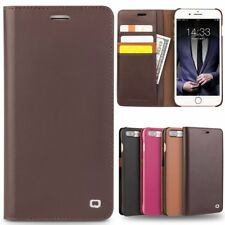 QIALINO Real Leather Slim Flip Case Cover Card Holder Wallet Fr iPhone 7 Plus AU