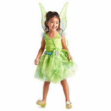 Disney Store Tinker Bell Costume AND Light Up Wings 5 6 7 8 NWT