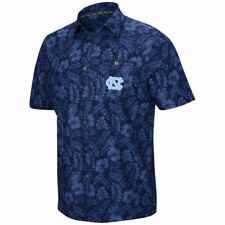 Colosseum North Carolina Tar Heels Carolina Blue Ground Rules Camp Button-Up
