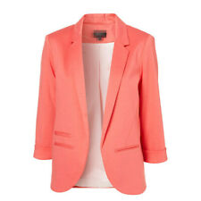 AU Womens Navy Pink Blazer Size 10 12 14, Office Jacket Slim Fit Long Sleeve bp5