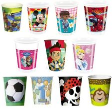 8 x Paper/Plastic Birthday Party Cups Assorted Designs