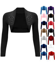 Womens Beaded Bolero Shrug Long Sleeve Cropped Bolero Shrug Cardigan Top