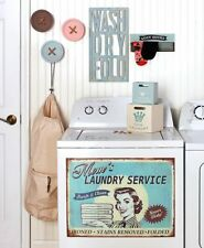 Vintage Decor Inspired Laundry Room Accents Wash Dry Fold Cutout Sign, And More