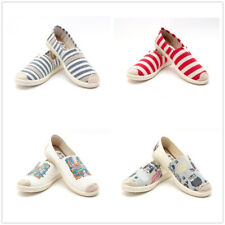 Women Classics Tom Loafers Canvas Slip-on Flats shoes Stripe Casual Driving Shoe